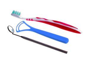 Toothbrush and Tongue Scraper