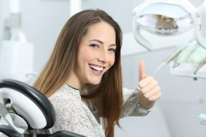 Patient Overcoming Dental Phobia